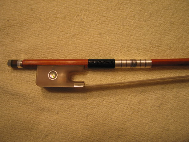 RARE SILVER BULL HORN CELLO BOW, HIGH QUALITY, 4/4