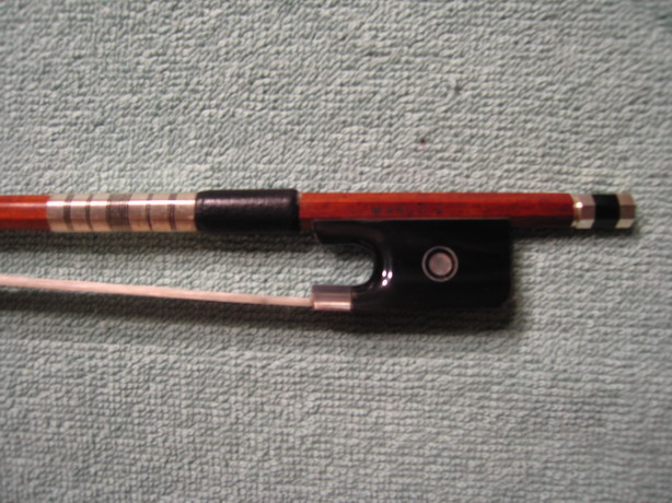 RARE Silver Black BULL HORN Viola Bow, High Quality, 4/4