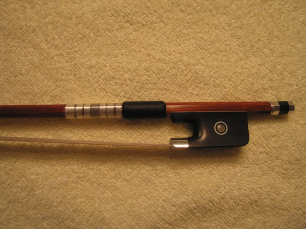 High Quality Fine Silver mounted VIOLA BOW, 4/4